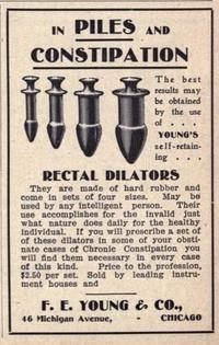 Dilatateur rectal (existe en plusieurs tailles)