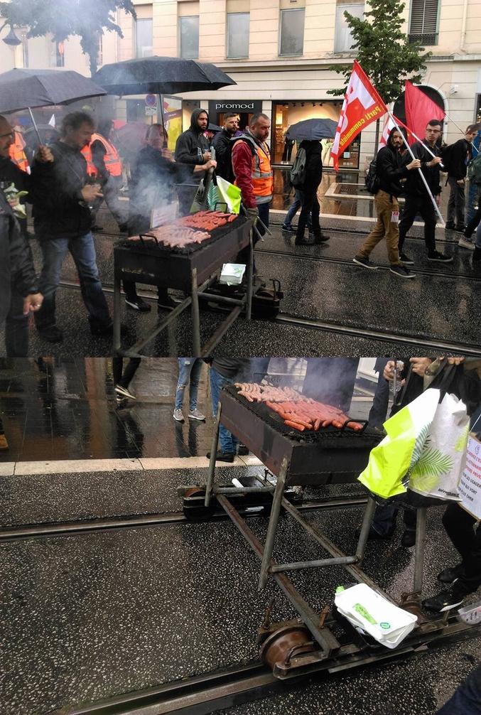 Idée pour la version 2 du barbecue : ajouter un support parasol / parapluie.