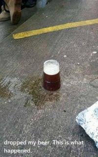 Bière à terre