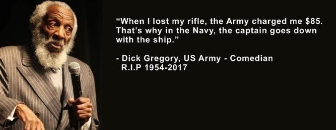 Quand j'ai perdu mon arme, l'armée m'a réclamé 85$. C'est pourquoi dans la NAVY, le capitaine coule toujours avec son navire. RIP