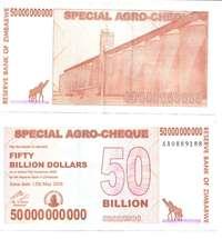 Inflation au Zimbabwe
