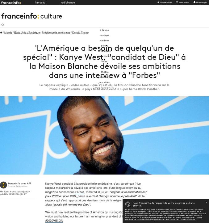 Le rappeur Kanye West envisage de se présenter aux elections présidentielles,  avec un programme assez particulier...