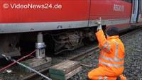 Reraillement d'un train déraillé