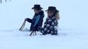 Kanteu il y a de la neige-eu en Camargue-eu et queue les gensses du Nord nous croivent pas...