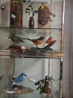 Sculptures d'oiseau en bois