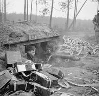 8 Février 1945: Cette mitrailleuse anglaise Vickers n'a visiblement pas chômé...