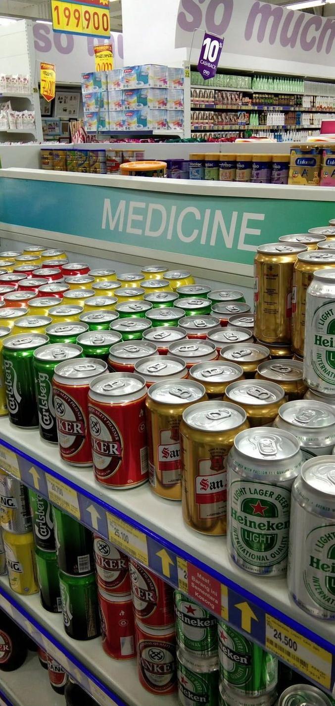 ... c'est la médecine que je préfère !
