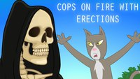 Cops on Fire with Erections