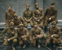 Photo (sans doute colorisée) de quelques soldats du Harlem Hell