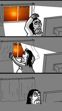 Moi pendant l'éclipse.
