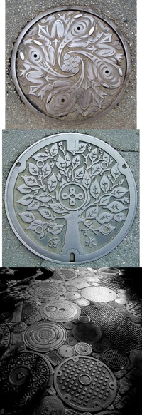 Au Japon, les plaques d'égout sont plutôt artistiques