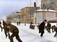Bataille de boules de neige, 1896, à Lyon