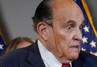 Giuliani, ancien maire de New-York et pro-Trump à fond, a utilisé une teinture de médiocre qualité...