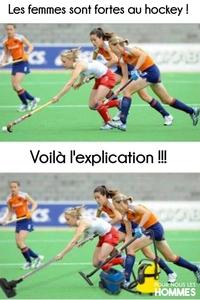 les femmes sont fortes au hockey