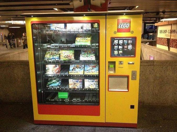 Un distributeur LEGO.