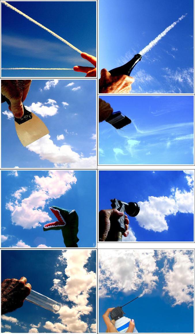 Des effets d'optique à partir de photos de nuages.