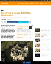 Qui sauvera le chateau de la Mothe-Chandeniers ?