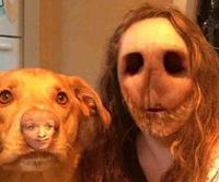 Inversion de visage avec un chien !