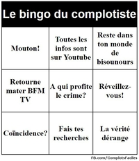 Le bingo du complotiste