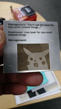 Surtout, n'utilisez pas la gravure laser à titre personnel