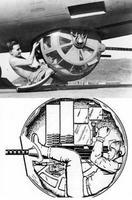 Mitrailleur du ventre de fuselage d'une forteresse volante américaine