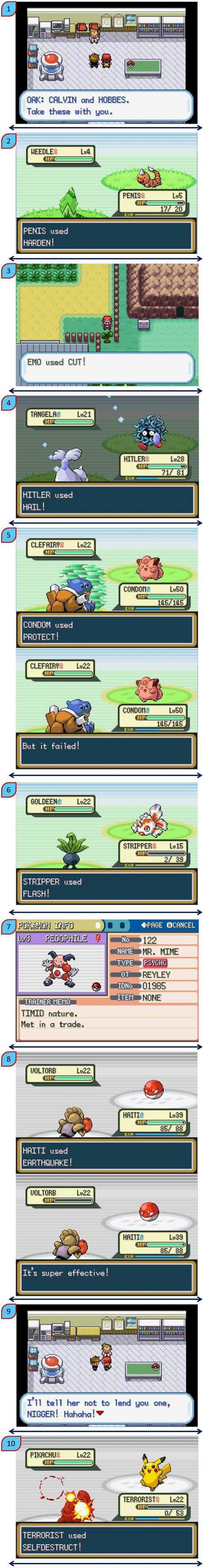 Plusieurs jeux de mots dans Pokemon.