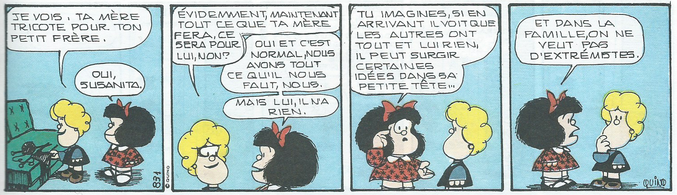 Mafalda, de Quino. https://fr.wikipedia.org/wiki/Mafalda