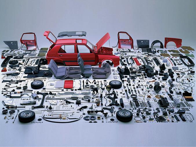 Tous les composants présents dans une voiture