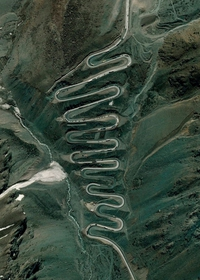 Le col Caracoles entre le Chili et l'Argentine