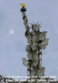 Statue de la Liberté à Alep (Syrie)