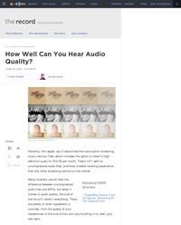 Testez votre capacité à différencier les niveaux de compression sonore.