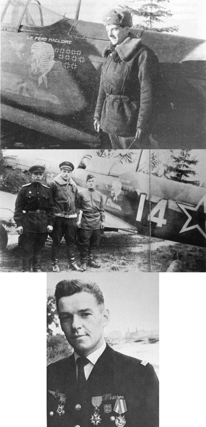 Un héros peu connu. Lieutenant Marcel Lefèvre, des Andelys, surnommé le « père Magloire » ou la « fièvre ». FAFL. Membre du « Neu Neu », titulaire de 11 victoires, il est mort à 26 ans le 5 juin 1944 suite à l'accident de son Yak 9 touché au combat.