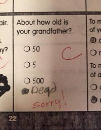 L'age de ton grand père