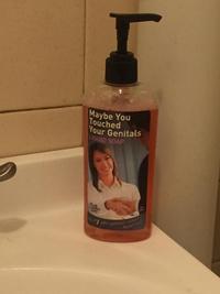 Du savon liquide