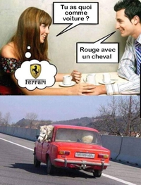 Tu as quoi comme voiture ?