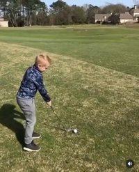 Golfeur en herbe