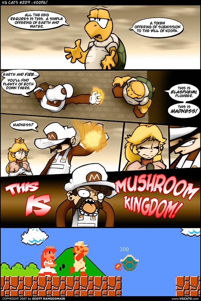 THIS IS MUSHROOM KINGDOM !