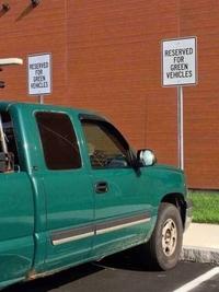 Réservé aux véhicules verts