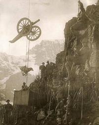Logistique italienne pour franchir les Alpes