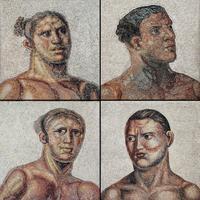 Visages d'athlètes romains