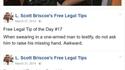 Conseils d'avocat (traduction en commentaires)