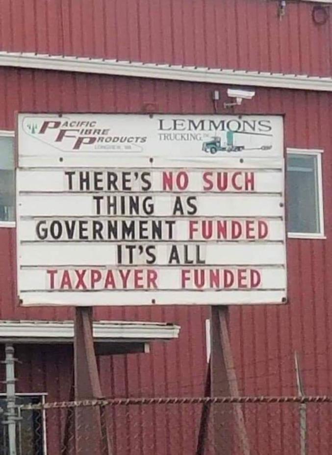 Tout est payé par les contribuables.