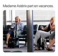 Madame Astérix à l'aéroport !