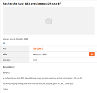 Les conducteurs d'Audi RS, bien connus pour leur petite...