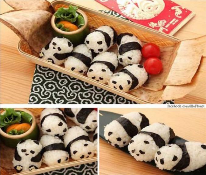 Des makis pandas.