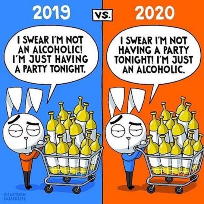 2019 : je suis pas alcoolique, je vous jure, j'organise juste une fête ! 2019 : j'organise pas une fête, je vous jure, je suis juste alcoolique !