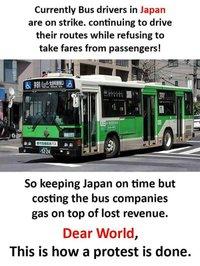 les grèves au Japon ...