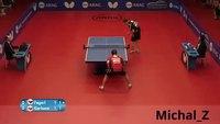Ping pong acrobatique