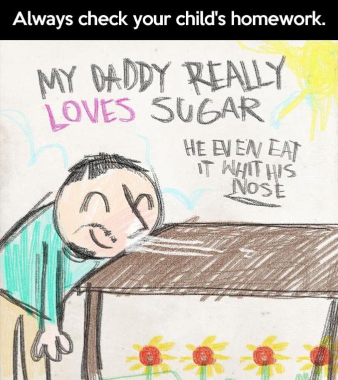 il adore le sucre !