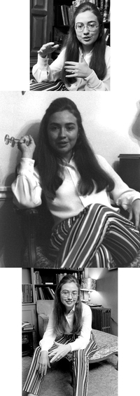 Hillary future Clinton en 1968